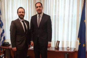 Συνάντηση με τον Υφυπουργό Μεταφορών και Υποδομών Γιάννη Κεφαλογιάννη