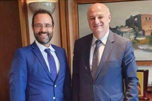 Σύσκεψης με τον υπουργό Δικαιοσύνης Κώστα Τσιάρα